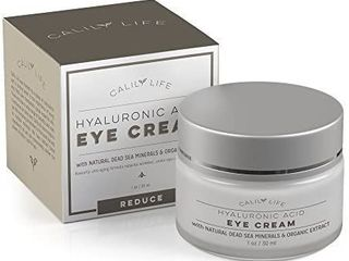 Hyaluronic Acid Eye Cream with Dead Sea Minerals  1 Oz aDeeply Hydrates  Nourishes Skin   Fights Wrinkles 2 Pack