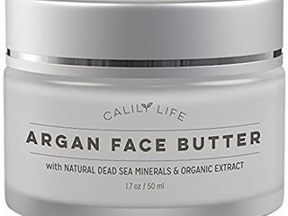 Calily life Organic Argan Face Cream With Dead Sea Minerals  1 7 Oz 2 Pack