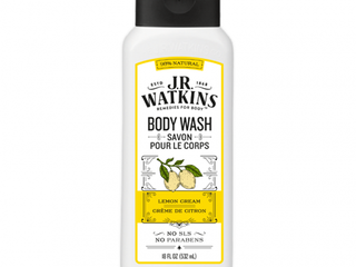 J R Watkins Daily Moisturizing Body Wash   lemon Cream 18 oz With Bonus 8 oz Body Scrub Exfoliat