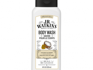 J R  Watkins Coconut Milk   Honey Daily Moisturizing Body Wash 18 oz Plus 8 oz Body Scrub Exfoliant