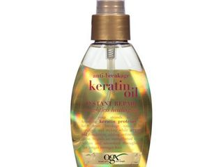 OGX Shimmering Keratin Oil  Ever Straight Brazilian Keratin Therapy  4oz