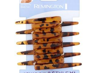 Remington large Interlocking Claw Clip 5 ct  Women s  Brown