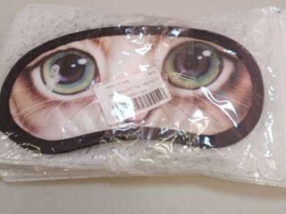 Sleeping Masks with Cat Design   1 Mask Per Pack   5 Packs