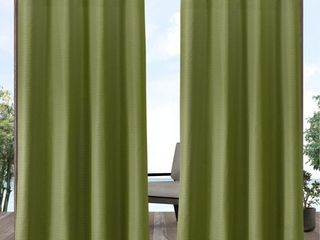 Set of 2 108 x54  Aztec Grommet Top light Filtering Window Curtain Panels Green   Exclusive Home