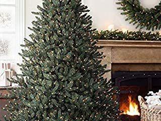 ABUSA Prelit Artificial Christmas Tree 7 5 ft 750 lED lights