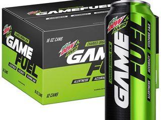 12 CANS MTN DEW AMP GAME FUEl  Original  16 oz Cans  12 Count