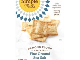 3 Boxes AlMOND FlOUR CRACKERS  SEA SAlT