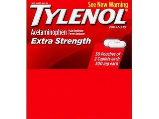 QTY 50 Pouches Tylenol Extra Strength Caplet   ACETAMINOPHEN   TABlET