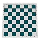 Tournament Roll Up Chess Board  Vinyl with Green Squares