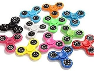 Fidget Hand Spinners 25 PC Color Bundle Bulk EDC Tri Spinner Desk School Toy Anxiety Relief ADHD Student Relax Therapy Pack Combo Wholesale Green Red Black White Blue Yellow Glow Pink Glow Sky Blue