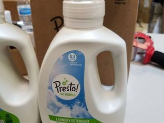Amazon Brand   Presto 96  Biobased Concentrated liquid laundry Detergent  Fr