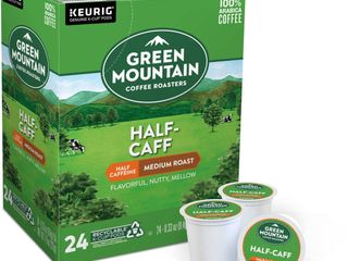Green Mountain Half Caff Medium Roast Coffee   Keurig K Cup Pods   24ct
