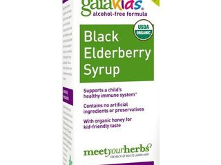 Gaia Kids Black Elderberry Syrup  3 Ounce Bottle