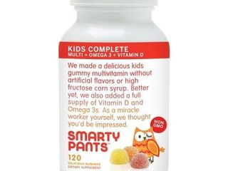 Smarty Pants Kids Complete Delicious Gummy Vitamins   120 Count