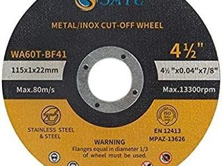 S SATC Cutting Wheel 10 PCS Cut Off Wheel 4 5 x 040 x7 8  Cutting Disc Ultra Thin Metal   Stainless Steel