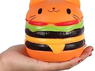 Anboor 4 5  Squishies Jumbo Slow Rising Kawaii Squishies Cat Hamburger Bread Toy for Collection Gift 2 Pack