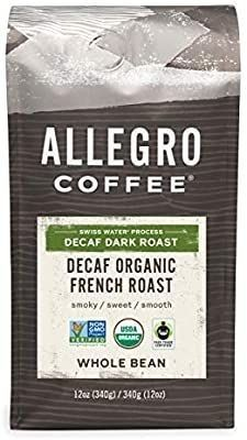 Allegro Coffee Decaf Organic French Roast Whole Bean Coffee 12 Oz