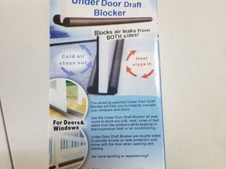Under Door Draft Blocker 2 Pack