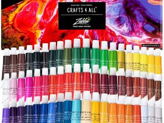 Acrylic Paint Set By Crafts 4 All Perfect For Canvas Wood Ceramic Fabric