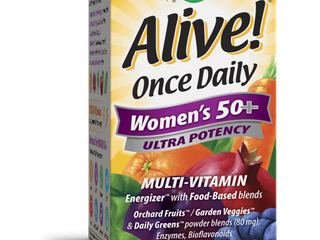 Nature s Way Alive Once Daily Women s 50  Ultra Potency Multivitamin  60 Tablets