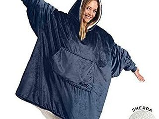 THE COMFY Original   Oversized Microfiber   Sherpa Wearable Blanket  Seen On Shark Tank  One Size Fits All Blue