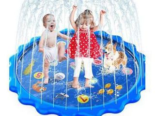 MOZOOSON Splash Pad for Kids Sprinkler Outdoor Inflatable Water Toys for Toddler Kids