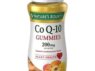 Nature s Bounty Co Q 10 Peach Mango Flavor Heart Shape Gummies  200 mg  60 count
