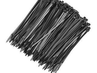 Cable Ties 6 Inch Heavy Duty Zip Ties with 39 Pounds Tensile Strength for Multi Purpose Use  Self locking UV Resistant Nylon Tie Wraps  Indoor and Outdoor Tie Wire  100 Pcs Black