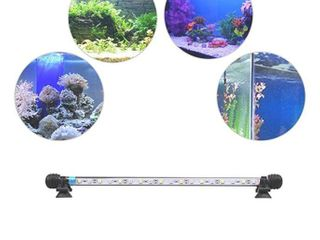 MlJ lED Aquarium light  112CM Waterproof Fish light White with Blue  RGB Underwater lamp Submersible lED light for Fish Tank
