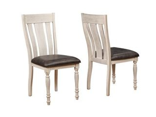 Arch Weathered Oak Turned leg Dining Chair Set of 2  Retail 159 99