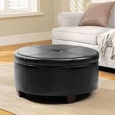 Copper Grove Julius large Round Button top Storage Ottoman  Retail 132 99 black