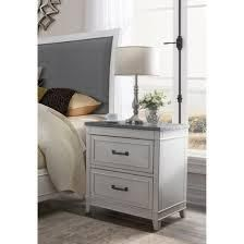 The Gray Barn Happy Horse White and Grey 2 drawer Nightstand  Retail 231 49
