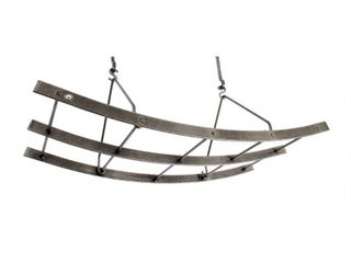 Enclume Handcrafted Reversible Arch Ceiling Pot Rack Hammered Steel  Retail 238 49
