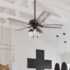 The Gray Barn Chequers 52 inch Coastal Indoor lED Ceiling Fan with Pull Chains 5 Reversible Blades   52  Retail 203 99 bronze