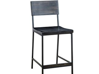 INK IVY Tacoma Black 24 inch Counter stool  Retail 215 49