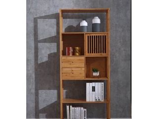Selma Bamboo Bookcase   left Facing Spindle Cabinet  Natural  Retail 248 49