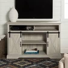 The Gray Barn Wind Gap Sliding Barn Door TV Stand Console  Retail 304 49