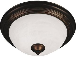 Essentials 13 5  Wide Iron Flush Mount Ceiling light