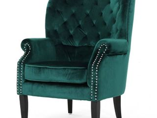 Tomlin Velvet Club Chair by Christopher Knight Home  Retail 336 92