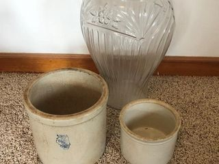 Crocks and vase