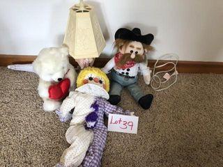 lamps  dolls  misc