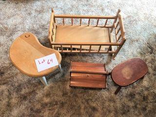coffee table  foot stools  basket