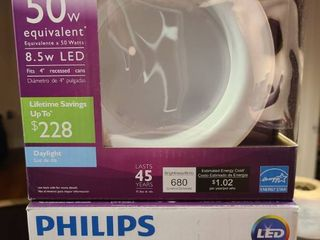 Philips lED Downlight Spotlight 50W Equivalent Dimmable Soft White light Bulb