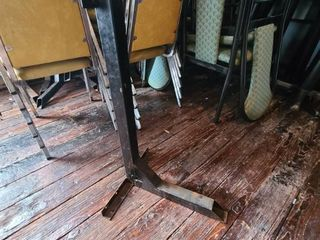 lot of  3  Sturdy Metal Table   Wall Supports ATTENTION All lOTS BEYOND THIS POINT HAVE A SEPARATE PICKUP lOCATION AND DATE