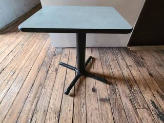Perfect size lot of  1  Cafe Table with base   ATTENTION All lOTS BEYOND THIS POINT HAVE A SEPARATE PICKUP lOCATION AND DATE