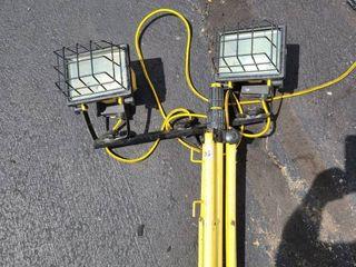 mobile workshop light with adjustable tripod