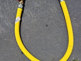 gas hose with 3 4 inch valves