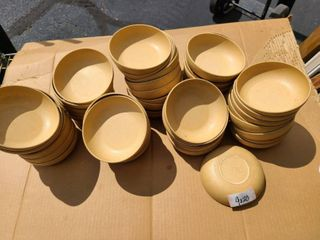 lot of 55  5 1 2 round wood bowls