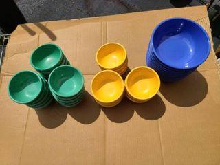 lot of 38 Fiesta bowls