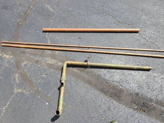lot 4 of copper pipes